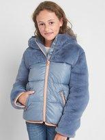 Gap Mixed fabric puffer jacket