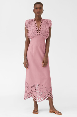 Rebecca Taylor Ariana Eyelet Embroidered Dress