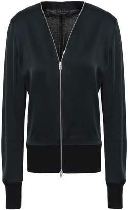 Rag & Bone Paneled Satin-crepe And Knitted Jacket