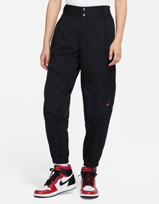 Jordan Nike Statement Essentials cuffed utility pants in black