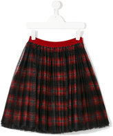 Dolce & Gabbana tulle checked skirt - kids - Cotton/Polyester - 4 yrs