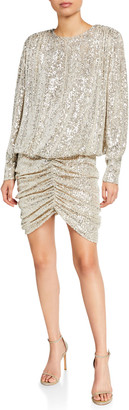 retrofete Flynn Sequin Blouson Cocktail Dress