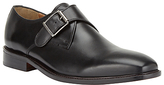 John Lewis Clayton Single Monk Strap Shoe, Black