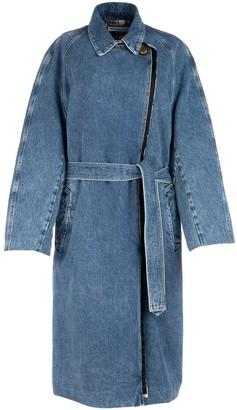 Balenciaga Double Breasted Denim Trench Coat
