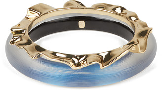 Alexis Bittar Crumpled Metal Bangle Bracelet Set