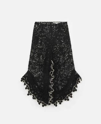 Stella McCartney cornely embroidered midi skirt