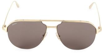 Cartier 60MM Metal Aviator Sunglasses
