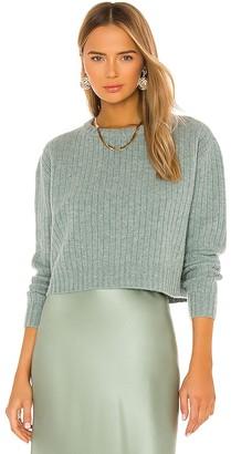 Divine Heritage Cropped Rib Sweater