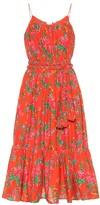 Rhode Resort Lea floral cotton midi dress
