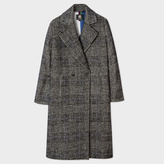 Paul Smith Women's Puppytooth-Check Wool-Cotton Cocoon Coat