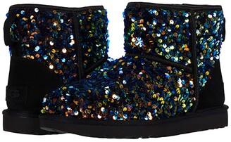 UGG Classic Mini Stellar Sequin (Black) Women's Shoes
