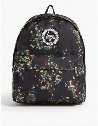 Hype Floral-printed canvas backpack