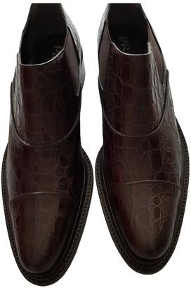 Prada Brown Crocodile Ankle boots