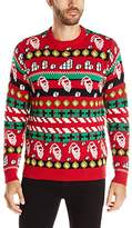 Blizzard Bay Men's Cheat Code Santa Ugly Christmas Sweater