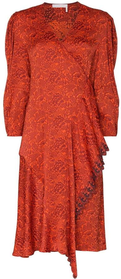 0b7d44e168 floral print wrap dress