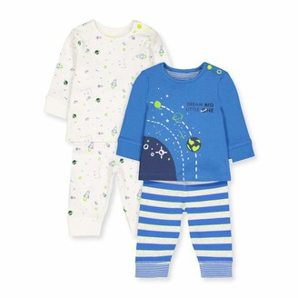 Mothercare Baby Boys' B Little Space 2PK PJ Pyjama Sets