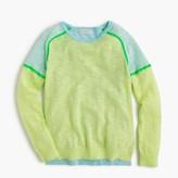 J.Crew Girls' colorblock popover sweater