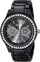 XOXO Women's Enamel Bracelet With Rhinestones Accent Watch XO5403