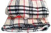 Tache 50x 60 Inch Super Soft Tartan Plaid Salmon Run Flannel Throw Blanket by Tache Home Fashion
