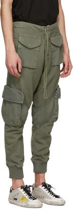 Greg Lauren Khaki Utility Sweat Cargo Pants