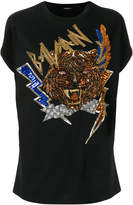 Balmain sequin embellished T-shirt