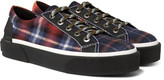 Lanvin - Checked Felt Sneakers