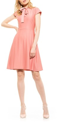 Alexia Admor Blaise Pleated Fit & Flare Dress