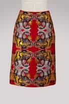 Gucci Lurex jacquard tigers skirt