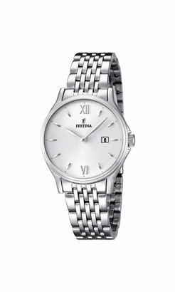 FESTINA Acero Clasico Women's Analogue Quartz Watch Stainless Steel - F16748-2