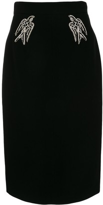 No.21 Embellished Pencil Skirt