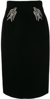 No.21 embellished pencil skirt