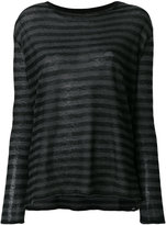 Majestic Filatures striped long sleeved T-shirt