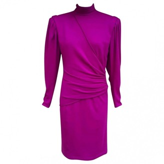 Ungaro Parallele Pink Wool Dress for Women Vintage