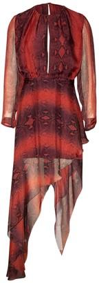 Amiri Printed Python Asymmetrical Dress