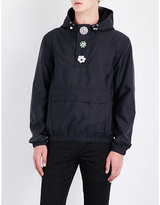 Givenchy Button-embellished Hooded Shell Jacket