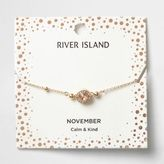 River Island Womens Orange gem November birthstone bracelet