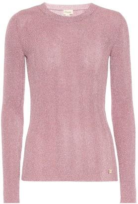 Temperley London Cordial metallic knit top
