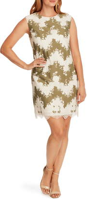 Vince Camuto Mixed Media Sleeveless Shift Dress