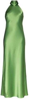 Galvan Halterneck Long Gown