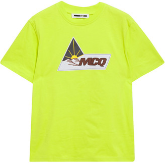 McQ Neon Printed Cotton-jersey T-shirt