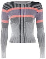 Topshop Multi colour block knitted crop top