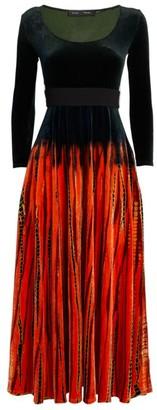 Proenza Schouler Velvet Tie-Dye Dress