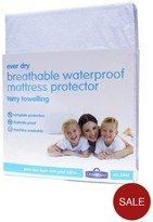 Downland Terry Waterproof Deep Mattress Protector - 30cm Depth