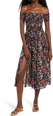 Lulus View from the Meadow Off the Shoulder Dress