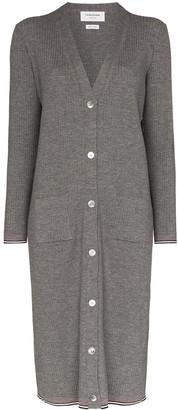 Thom Browne V-neck merino wool cardigan dress