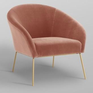 Nicole Miller Achilles Barrel Chair Fabric: Blush