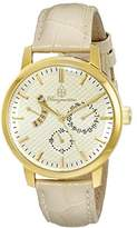 Burgmeister Women's Quartz Watch with Beige Dial Analogue Display and Beige Leather Bracelet BM218-290