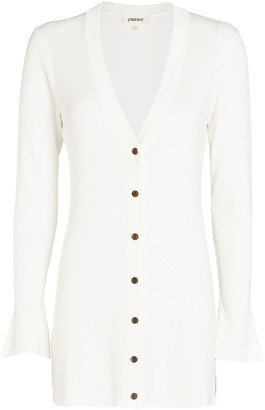 L'Agence Lucas Ribbed Long Cardigan