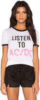 Junk Food Clothing Listen To ACDC Tee