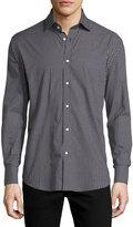 Neiman Marcus Check-Print Long-Sleeve Sport Shirt